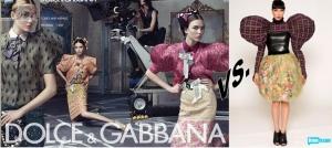 Dolce & Gabbana Ad vs. Kenley Collins.