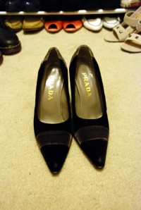 newly acquired prada pumps.