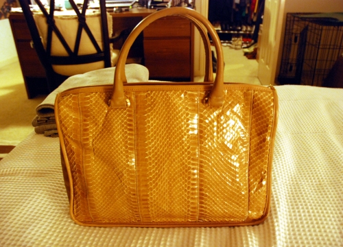 newest snakskin palazzio - i have three bags from this great company.